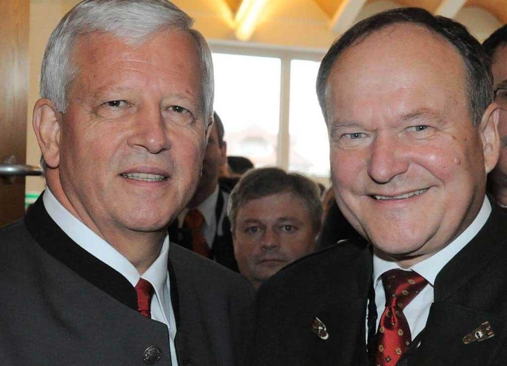 von links: Jakob Auer, Präsident des Österreichischen Bauernbundes und Hermann Schultes, Präsident der LK Österreich